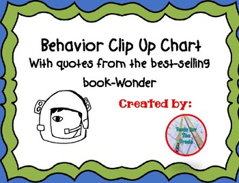Wonder Clip Up Behavior Chart By Tools For The Trade Teachers Pay