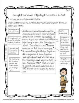 """Wonder"" Common Core Close Reading Unit"