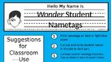 """Wonder"" Nametags"