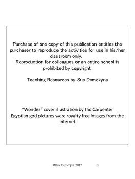 """Wonder"" Novel Study"