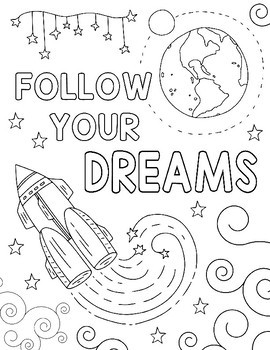 Wonder Outer Space Coloring Pages Kindness Themed By Art Is Basic
