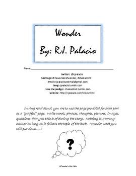 """""""Wonder"""" Read Aloud Packet"""