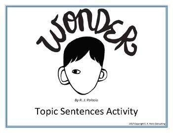 """Wonder"" Topic Sentence Cut Apart Activity"