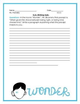 """Wonder"" Writing Prompt"