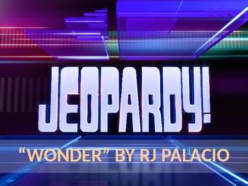 """""""Wonder"""" by RJ Palacio Jeopardy Game"""