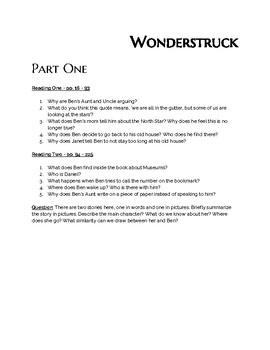"""Wonderstruck"" - Discussion Questions & QUIZ"