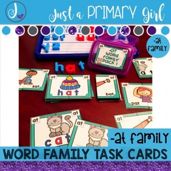 ~*Word Family Task Cards -AT