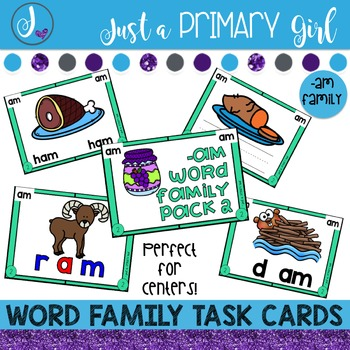 ~*Word Family Task Cards -AM
