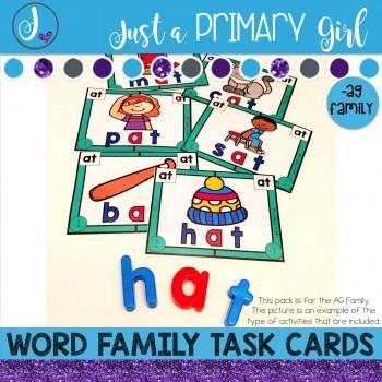~*Word Family Task Cards -AG