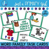 ~*Word Family Task Cards -AG
