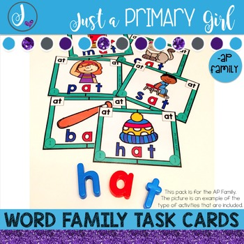 ~*Word Family Task Cards - AP