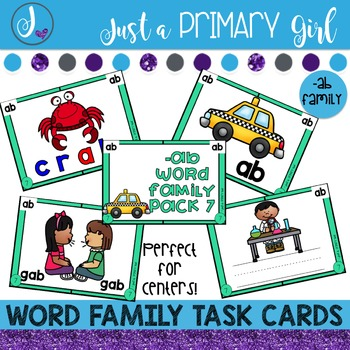 ~*Word Family Task Cards - AB