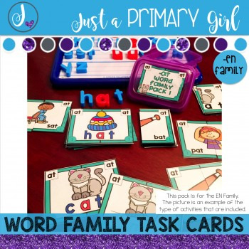 ~*Word Family Task Cards - EN