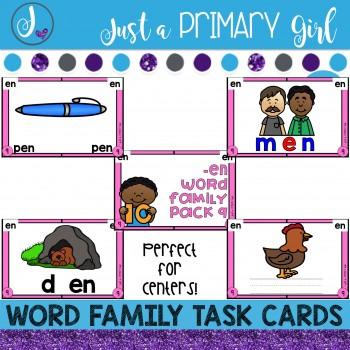 ~*Word Family Task Cards - EN