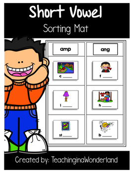 {Word Work} Short Vowel Sorting Mat Activity Packet