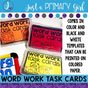 ~*Word Work Task Cards