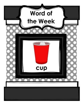 """""""Word of the Week"""" Program to Promote Carryover of /k/ and /g/"""