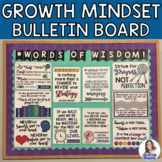 Growth Mindset Posters and DIY Interactive Bulletin Board Kit