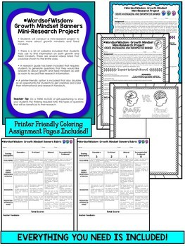#WordsofWisdom: Growth Mindset Banners and Mini-Research Project