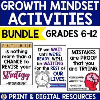 #WordsofWisdom: Growth Mindset Bundle for Secondary Students