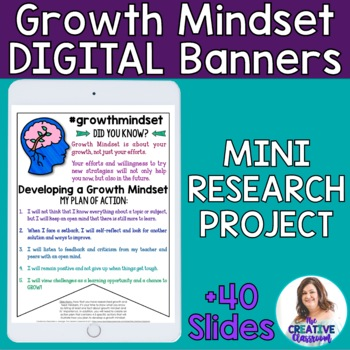 #WordsofWisdom: Growth Mindset Digital Banners and Mini-Research Project