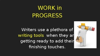 """Work in Progress"" Writing Lesson (PowerPoint)"