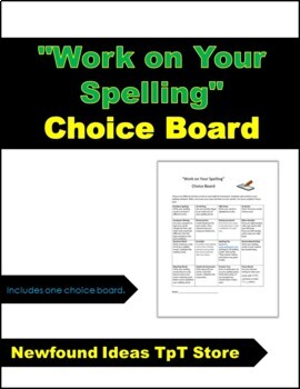 """Work on Your Spelling"" board"