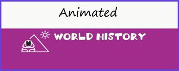"""World History"" Animated Google Classroom Headers/Banners"