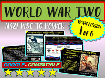 . World War II (TWO) (Part 1 of 6) Nazi Rise to Power VISUAL, TEXTUAL, ENGAGING