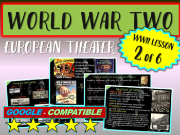 . World War II (TWO) (Part 2 of 6) European Theater VISUAL, TEXTUAL, ENGAGING