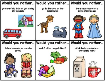 """""""Would You Rather?"""" Cards"""