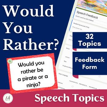 interesting speech topics for high school