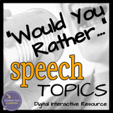 """""""Would You Rather"""" Impromptu Speech Topics for Middle School and High School"""