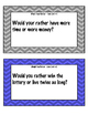 """Would You Rather"" Task Cards"