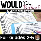 """Would You Rather"" Writing Prompts for Grades 3-6"