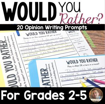 """""""Would You Rather"""" Writing Prompts for Grades 3-6"""