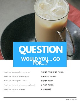 """""""Would you"""" Conditional Pattern English (w Korean translation)"""