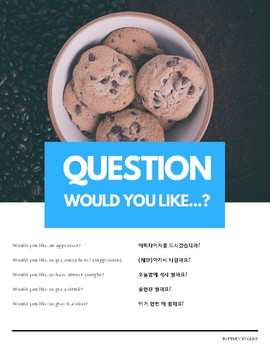 """Would you like"" Modal Verb Pattern English (w Korean translation)"