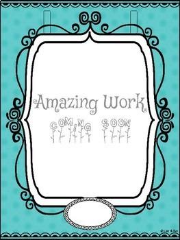 """Wow Work""  Display Wall - L3 - Purple/Teal Classroom Decor"