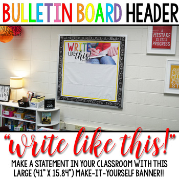 """Write Like This!"" Large Banner Classroom Decoration"