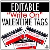 """Write On"" Valentine Tags 