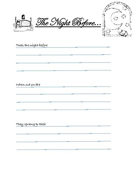 """Write Your Own """"The Night Before"""""""