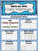 *Write and Wipe* - Daily Warmups - Kindergarten Series