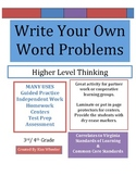 * Write your own word problems for each equation - VA SOL  *