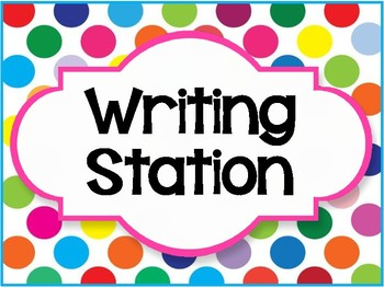 """""""Writing Station"""" Lable"""