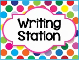 """Writing Station"" Label"