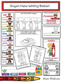 """Name Writing: """"Writing With Crayons!"""" Color Booklet & Name Writing Activities"""