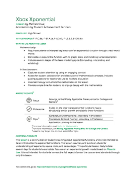 """""""Xbox Xponential"""" Annotated Lesson Plan"""