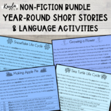 *YEAR LONG* Non-Fiction Seasonal Comprehension {BUNDLE}