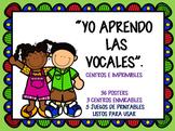 """""""YO APRENDO LAS VOCALES"""". ¡Iniciación a la lectoescritura"""
